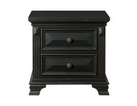 Calloway Wood Night Stand in Black CY600