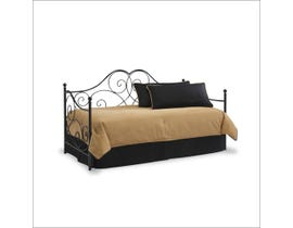 Sinca Cambria Daybed with Link Spring in Black Satin