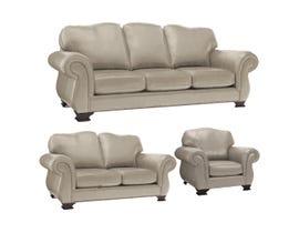 Decor-Rest 3pc Leather Sofa Set in Campania Sand 3933