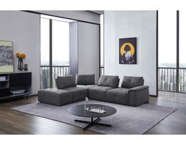 Primo Cantaro Series 5pc Sectional in Dark Grey 486