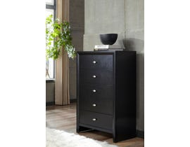 Global Furniture Carolina Chest Black/ Black 7089