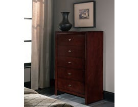 Global Furniture Carolina Chest Brown Cherry
