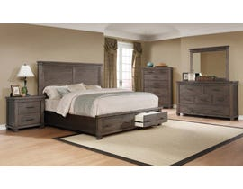 Amalfi Home Furniture Carter Series 6PC King Bedroom Set in Multi-Tone MSRB020