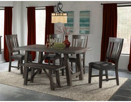 High Society Cash Collection 6-piece dining in Distressed Espresso DCS100