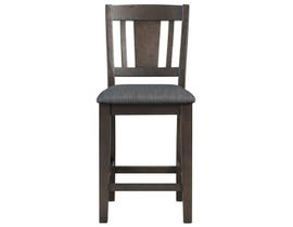 High Society Cash Collection Wood Counter Chair (Set of Two) in Distressed Espresso DCS100