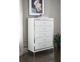 Global Furniture Catalina Chest Metallic White