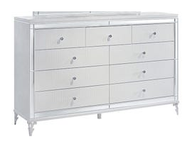 Global Furniture Catalina Dresser Metallic White