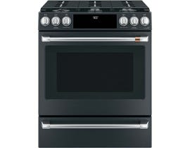"Café™ 30"" Slide-In Front Control Dual-Fuel Convection Range with Warming Drawer CC2S900P3MD1"