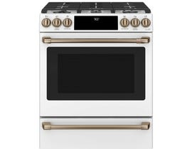 GE Cafe Dual-Fuel Convection Range in Matte White CC2S900P4MW2