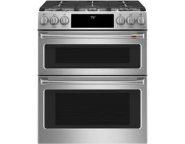 "Café™ 30"" Slide-In Front Control Dual-Fuel Double Oven with Convection Range CC2S950P2MS1"