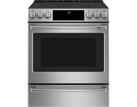 "Café™ 30"" 5.7 cu ft Slide-In Front Control Radiant and Convection Range with Warming Drawer CCES700P2MS1"