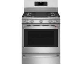 """Café™ 30"""" 5.6 cu ft Free-Standing Gas Oven with Convection Range CCGB500P2MS1"""