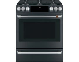 "Café™ 30"" 5.6 cu ft Slide-In Front Control Gas Oven with Convection Range CCGS700P3MD1"