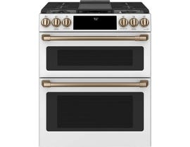 "Café™ 30"" Slide-In Front Control Gas Double Oven with Convection Range CCGS750P4MW2"
