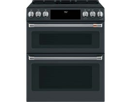 "Café™ 30"" 7 cu ft Slide-In Front Control Induction and Convection Double Oven Range CCHS950P3MD1"