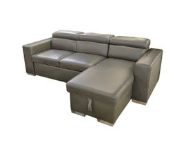 Primo International Celani Series 2pc Sectional w/Pull out Bed in Charcoal U5221