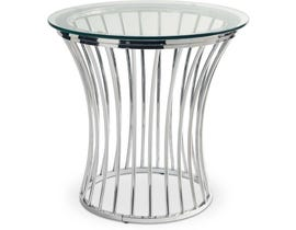 High Society Emma Collection End Table in Chrome