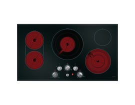 GE Café 36 inch 4-Element Built-In Knob Control Electric Cooktop in Black CEP70362MS1