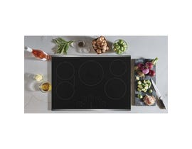 GE Café 30 inch 5-Element Electric Cooktop in Black CEP90302NSS