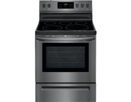 Frigidaire 5.3 Cu. Ft. Electric Range with Self-Cleaning Oven in Black Stainless CFEF3054TD