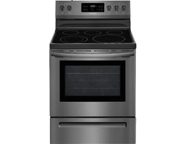 Frigidaire 30 inch 5.3  cu. ft. Electric Range in Black Stainless Steel CFEF3054TD