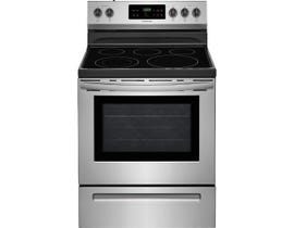 Frigidaire 30 inch 5.3 cu.ft. Freestanding Smooth Top Electric Range Stainless Steel CFEF3054US