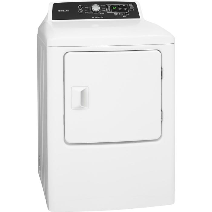 Frigidaire Gas Dryer 27 inch 6.7 cu.ft. stainless steel tub in white FFRG4120SW