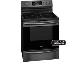 Frigidaire Gallery 30 inch 5.8 cu.ft. Freestanding Electric Range Black Stainless CGEF3059TD