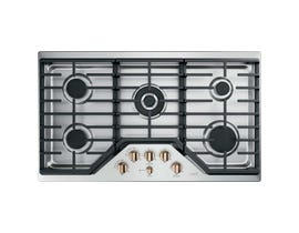 GE Café 36 inch 5-Burner Built-In Gas Cooktop in Stainless Steel CGP95363MS2