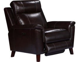 Amalfi Nora Series Leather-Match Power Recliner in Two Tone Dark Brown 9800