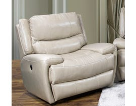 K-Living Myla High Grade Leather Power Recliner Chair with USB OUTLET in Taupe