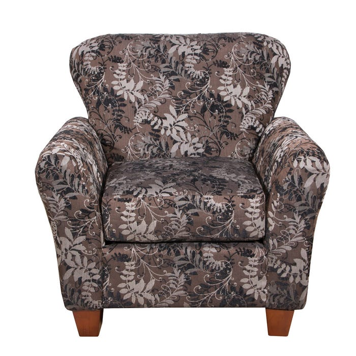 Flair Pompy Collection Fabric Patterned Accent Chair 1140