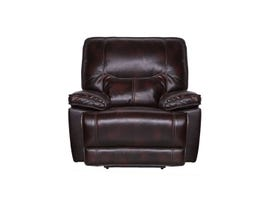 Bradstreet Collection Leather Power Recliner in Grape