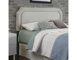 Sinca Chandler King Headboard with Metal Frame in London Fog
