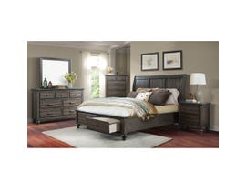 Chatham Collection 6-piece King Storage Bedroom Set in Ash Gray CH600K
