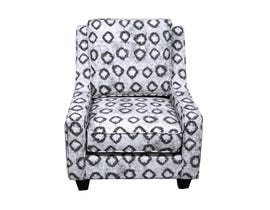 Flair Furniture Fabric Patterned Accent Chair in White 6085