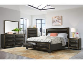 High Society Clark Collection 6PC Queen Bedroom Set in Chocolate CK600