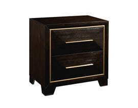 High Society Clark Collection Nightstand in Chocolate CK600