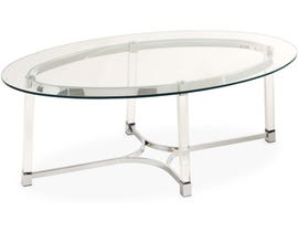 High Society Lucinda Collection Coffee Table in Clear Glass
