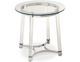 High Society Lucinda Collection End Table in Clear Glass