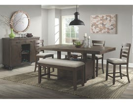 High Society Colorado 6-piece pub dining set with bench DCO100