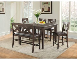 High Society Copper Ridge 6-Piece Wooden Dining Set in Espresso