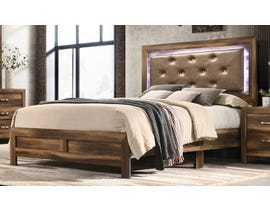Cosmos Yasmine Series Upholstered Bed in Brown