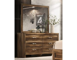 Cosmos Yasmine Series Dresser and Mirror in Brown