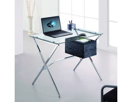 Brassex Office Desk with Tempered Glass Top CT-368