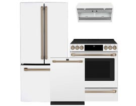 GE Café 3pc Appliance Package in White CWE19SP4NW2 CCES700P4MW2 CDT875P4NW2
