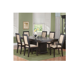 Georgina Series 7pc Dining set on Maple in Ebony D803