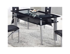 Global Furniture dining table black D1058NDT