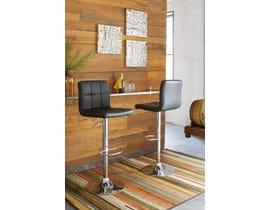 Signature Design by Ashley Bellatier Swivel Bar Stool (Set of 2) in Black/Chrome D120-130
