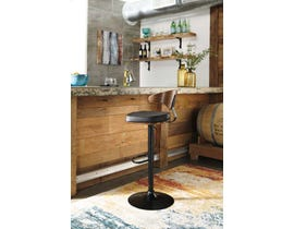 Signature Design by Ashley Bellatier Series Swivel Barstool in Brown/Black D120-330